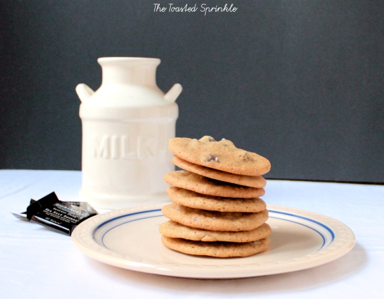 salted dark chocolate chip cookies with bourbon