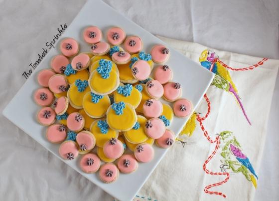 lemon slice and bake cookies via The Toasted Sprinkle