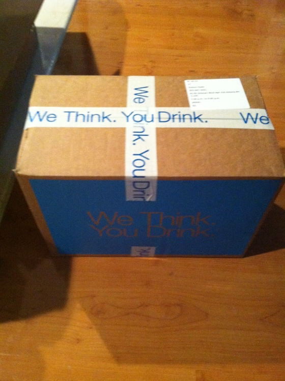 "Obligatory ""We think. You drink."" Arrival box shot."