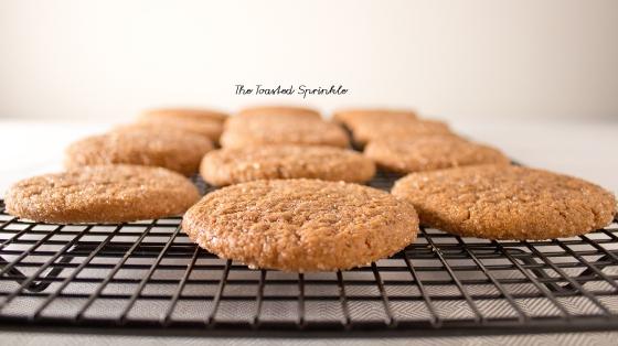 ginger molasses drop cookies